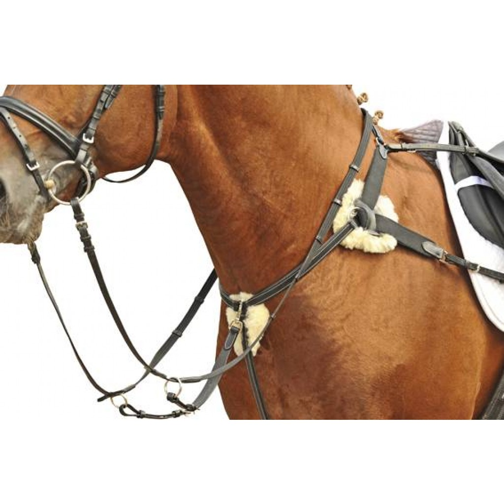 HKM Breastplate/martingale with lambswool